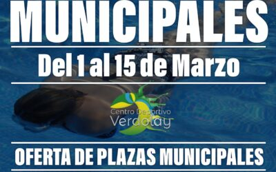 Oferta de Plazas Municipales de Natación