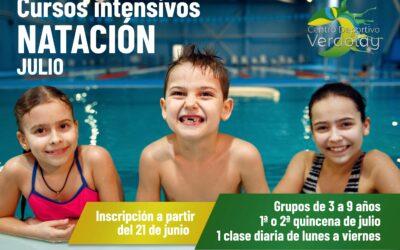 Cursos intensivos de natación infantil en Murcia 2021