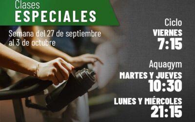 Clases especiales para la semana del 27 de septiembre al 3 de octubre
